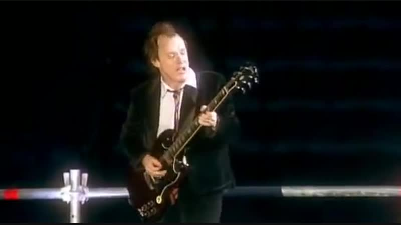 ACDC Angus Young performed musical and personal show Live