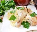 Курица в духовке со сметаной