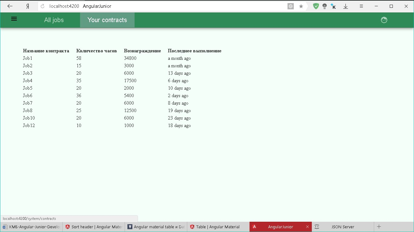 Angular material table и DataSource? — Toster ru