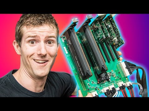 Building the $100 000 PC Pt 2 SO MANY PCIe CARDS