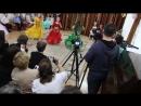 Восточный танец на выпускном вечере в садике (моя постановка). В красном Настя, в зеленом -Алиса,в желтом наша подруга Аня.