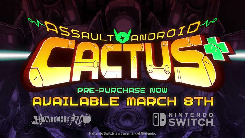 Assault Android Cactus - Трейлер анонса (Nintendo Switch)