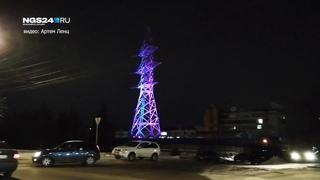 Подсветка ЛЭП на улице Годенко