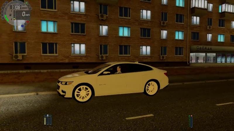 City Car Driving - Chevrolet Malibu | Fast night driving