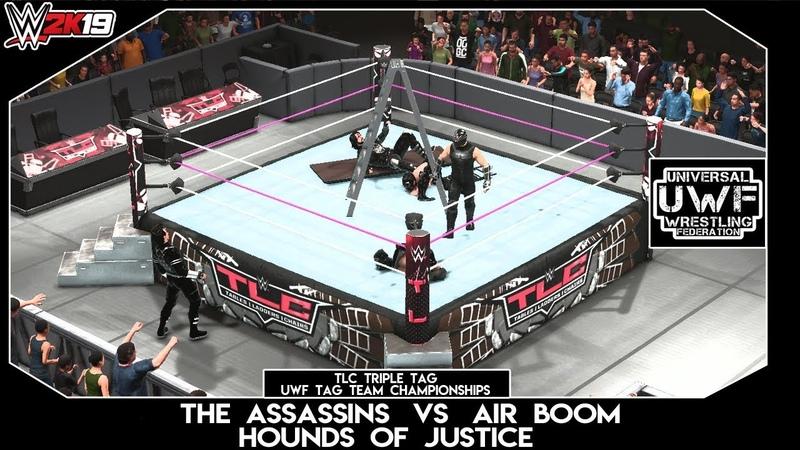 WWE 2K19 | UWF | TLC Triple Tag | UWF Tag Team Championship Match