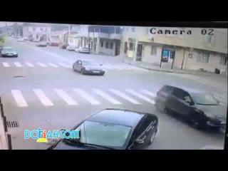 m.kala Вот это везение. Авария в Махачкала. ДТП, Дагестан.