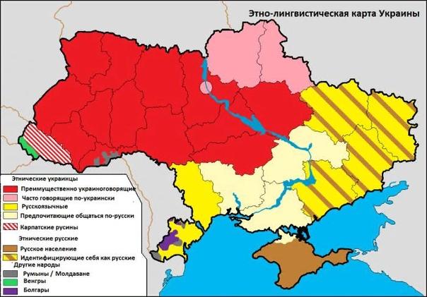 Какое противостояние выражает политическая карта Украины