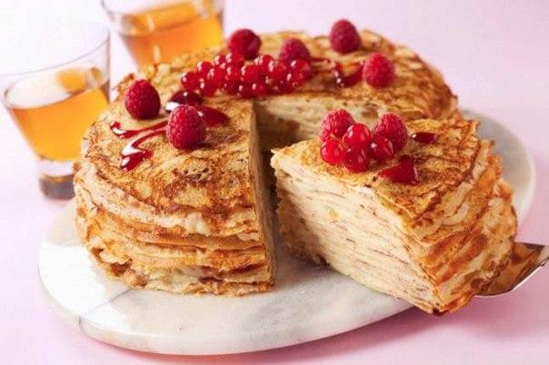 Торт из блинов без выпечки
