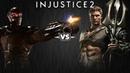 Injustice 2 - Дэдшот против Аквамена - Intros Clashes rus