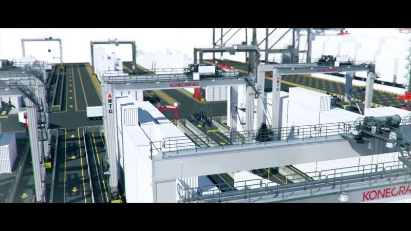 ARTG container handling system by Konecranes