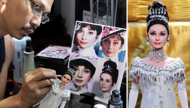 Что бывает, когда за дело берется человек, а не машина Ноэль Круз берет простых серийных кукол, смывает первоначальный слой краски и полностью перерисовывает их портрет. Завершить работу над