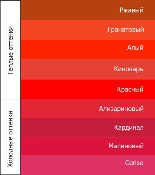 Красно алый цвет