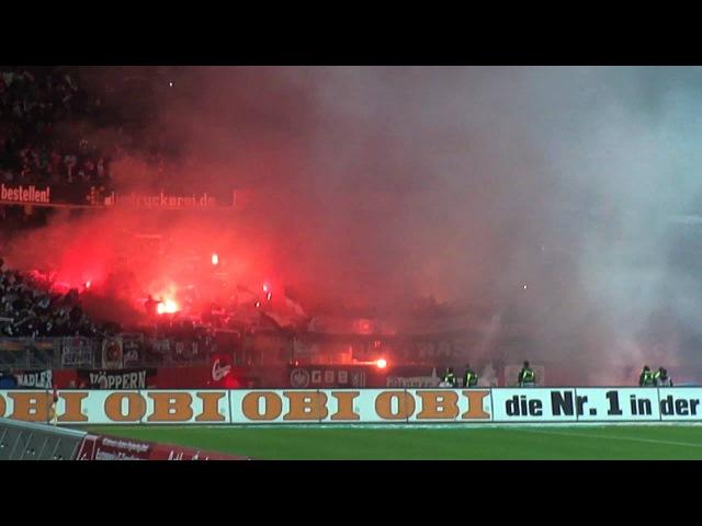 (Hiroshi KIYOTAKE) 1. FC Nürnberg - Eintracht Frankfurt Pyro / Bengalos
