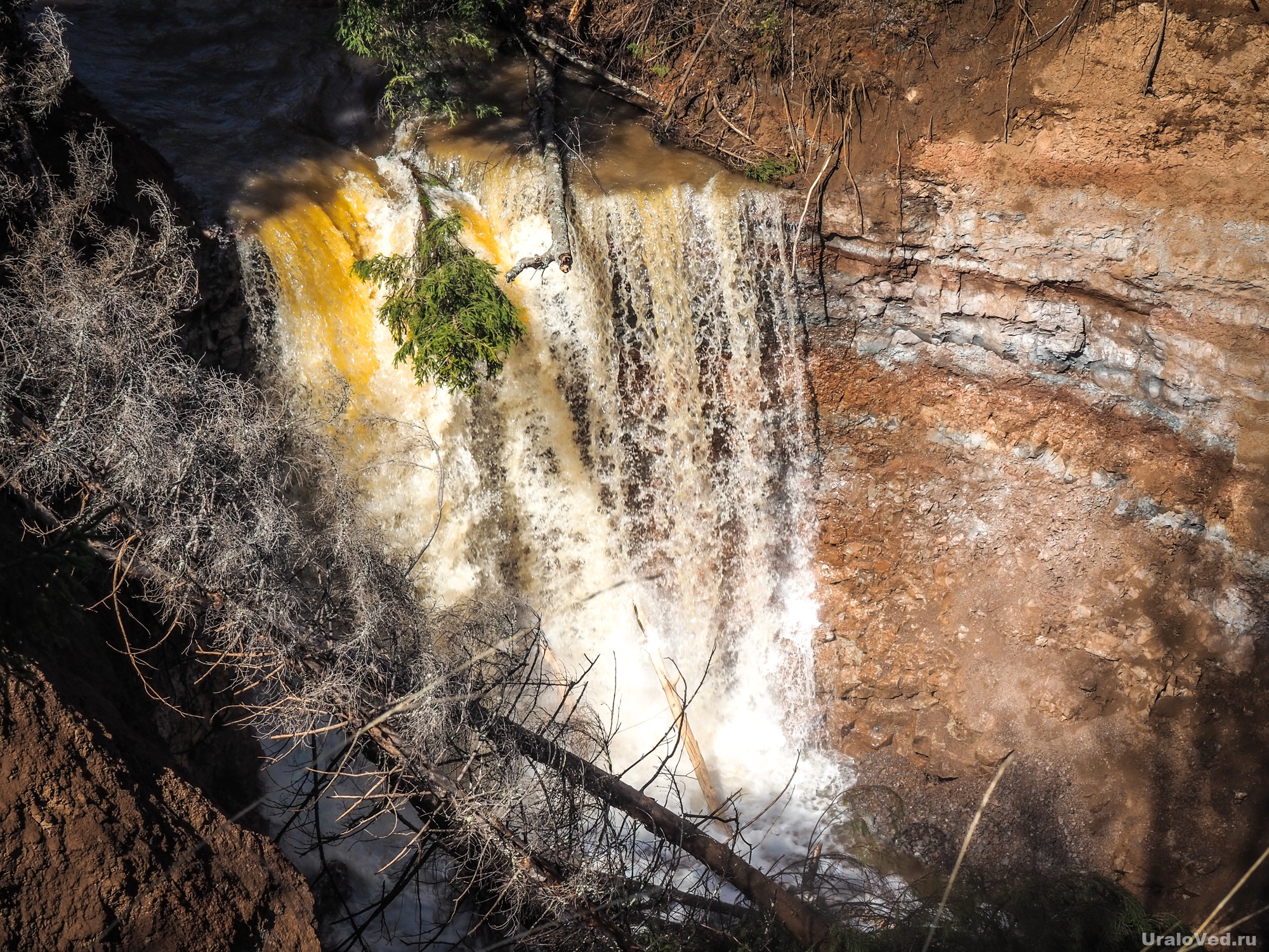 Водопад на канале Копань
