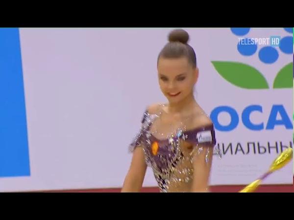Дина Аверина булавы многоборье Гран При 2019 Москва