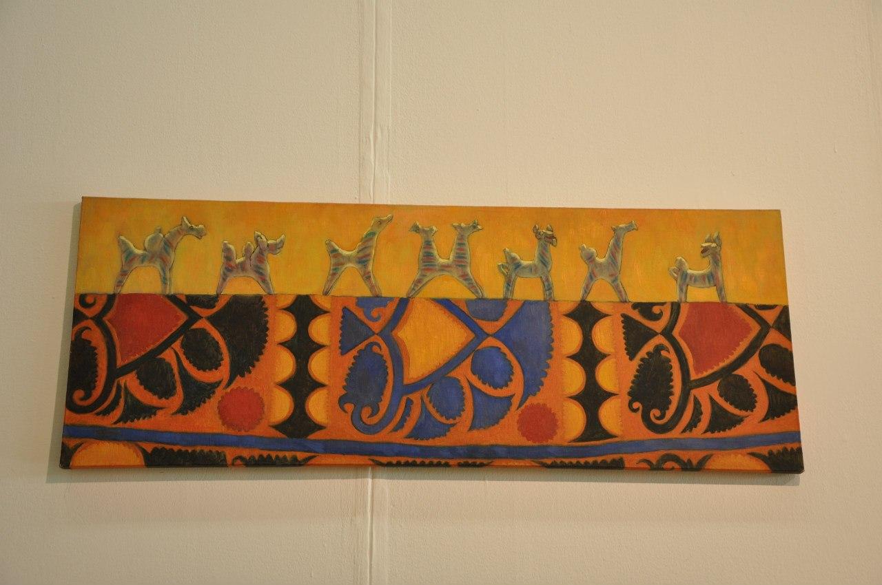 Союз художников Таджикистана  Абдулло Убайдуллоев (р. 1987)  Караван. 2011  Холст, масло
