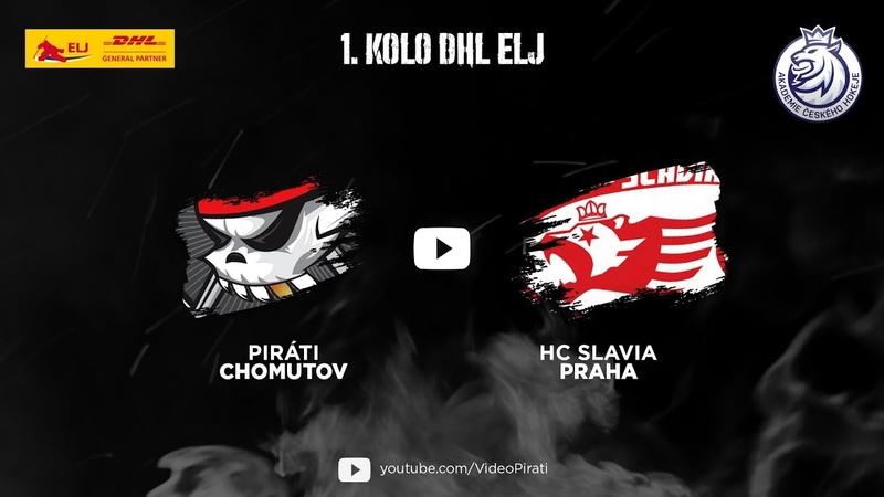 1. kolo DHL ELJ: Piráti Chomutov vs HC Slavia Praha