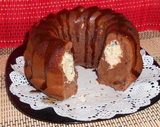 Шоколадный кекс с сюрпризом