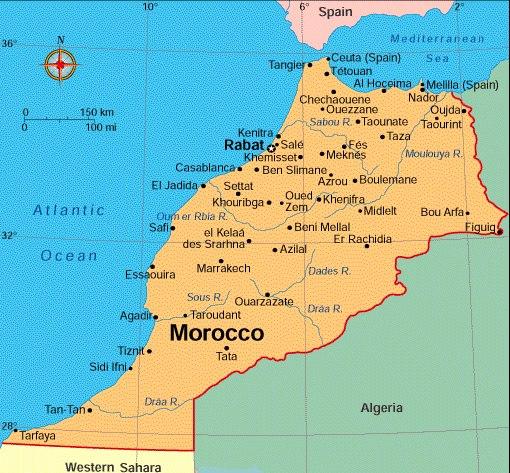 Марокко где она находится