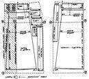 По выкройке сарафана можно сшить юбку с различными складками (односторонними или встречными). .  Для этого наносят на...