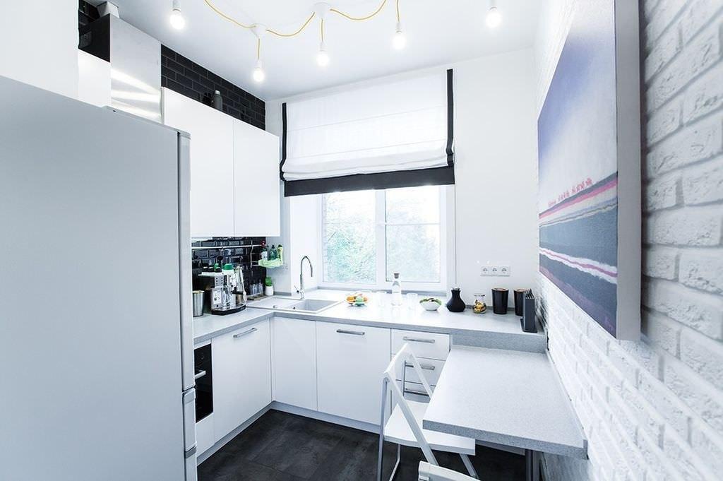 Кухня 7 кв м современный дизайн фото