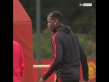 JUST IN! - - Frosty footage just in from @ManUtds training session between Paul Pogba and .mp4