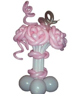 №324. Цветы из шариков «Розовые розы»