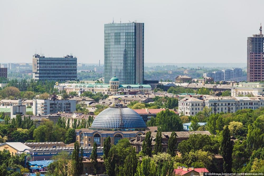 Донбасс Палас с крыши