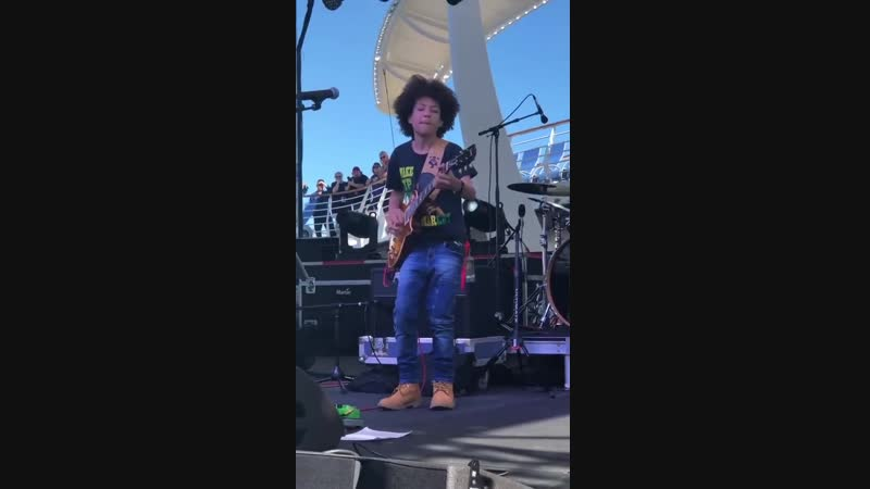 "14 year old Brandon ""Taz"" Niederauer plays Stevie Ray Vaughan"