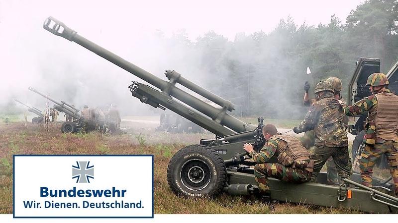 Artillerie der NATO Speerspitze beweist Feuerkraft Bundeswehr