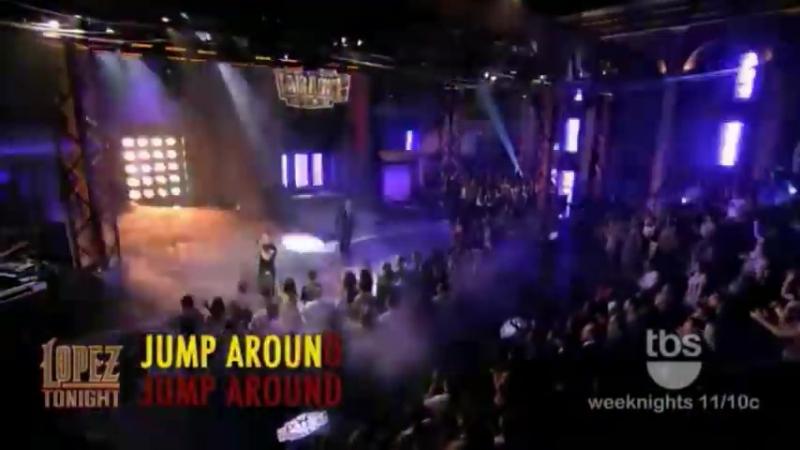 "The Miz performs _""Jump Around_"" on _""Lopez Tonight_"" _""WWE Superstar Karaoke Week_"""