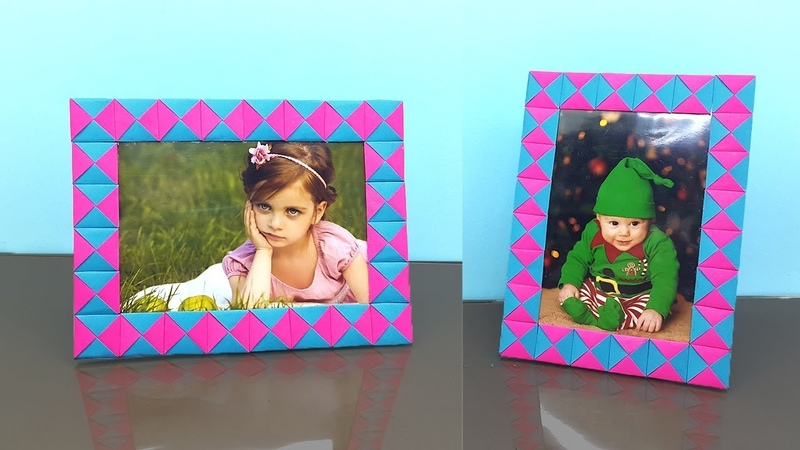 Paper Photo Frame How to Make Easy - DIY Paper Crafts Handmade Photo Frame