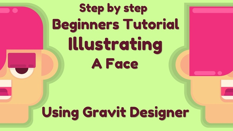 How to draw a basic illustrated head in Gravit Designer [Step by step tutorial]