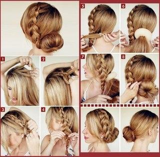 пошаговое фото плетение кос