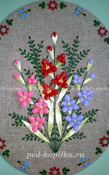 Цветочные панно из семян и косточек Автор: Сидорова Надежда Ивановна