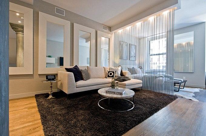 Дизайн квартиры-студии 70 м на Манхэттене в Нью-Йорке / США - http://kvartirastudio.