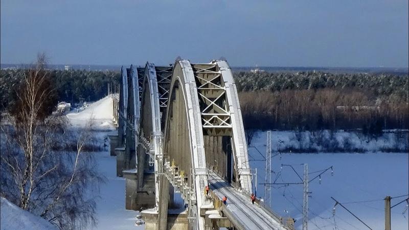 Сартаковский железнодорожный мост через Оку