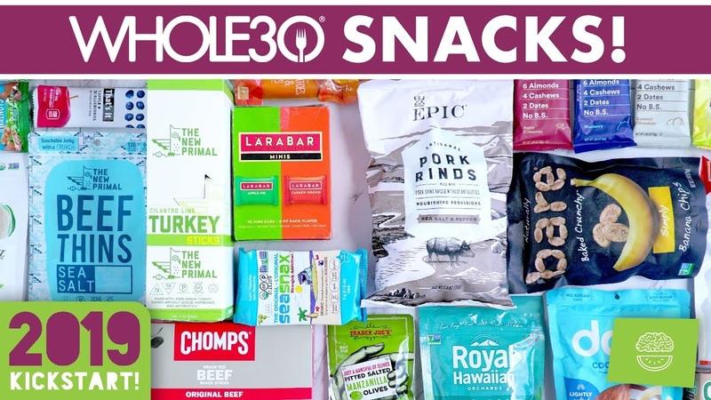 Whole30 Packaged Snacks kickstart2019