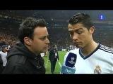 Интервью Криштиану после матча.