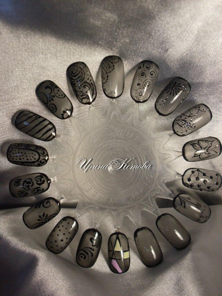 Дизайн ногтей гель лаком вуаль
