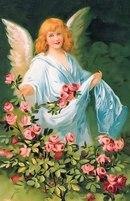 """Оригинал - Схема вышивки  """"ангел з квітами """" - Схемы вышивки - Ласка05 - Авторы - Портал  """"Вышивка крестом """" ."""
