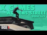 X Games Brazil 2013 -- Womens Street Practice with Lacey Baker and Alexis Sablone