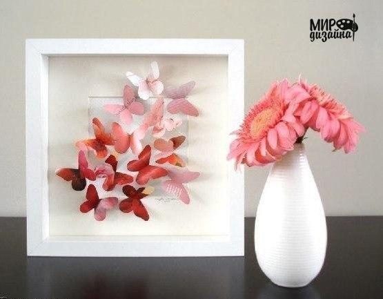 Декоративное панно с бабочками (6 фото)