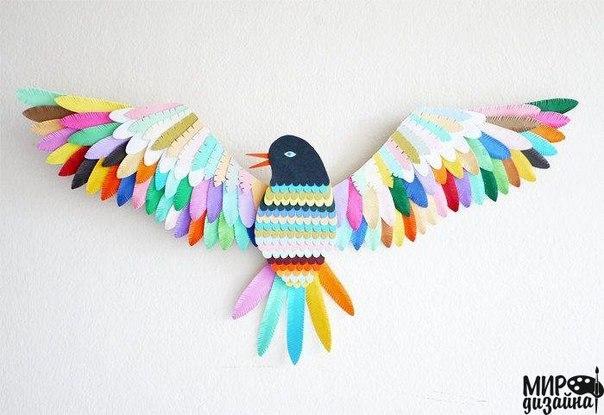 Креативный декор стены (5 фото) - картинка