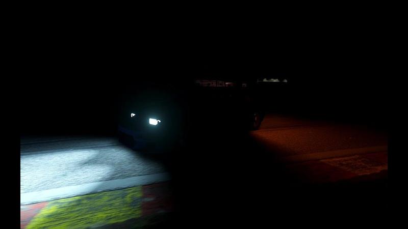 ночной дрифт на Spa Assetto Corsa