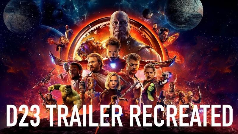 Avengers Infinity War D23 Teaser Trailer RECREATED