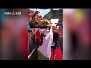 Денис Калинкин прошел всю дистанцию IronMan в Барселоне и во второй раз стал Железным человеком