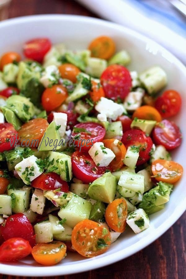 Фото ужина салат