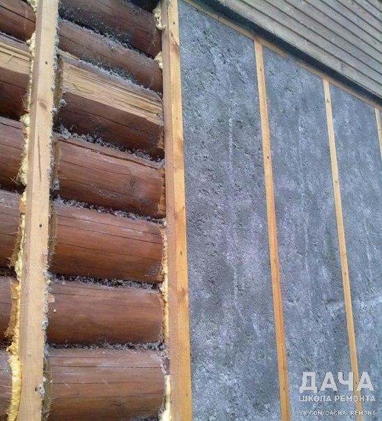 Как утеплить стены брусового дома