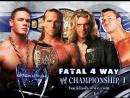 WWE Backlash (2007) - John Cena vs Edge vs Randy Orton vs Shawn Michaels - Fatal 4-Way - WWE Championship